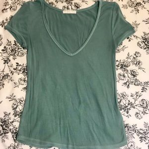Urban Outfitters Mint Green V-Neck